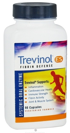 DROPPED: Landis Revin Nutraceuticals - Trevinol ES Fibrin Defense Systemic Oral Enzyme - 90 Capsules