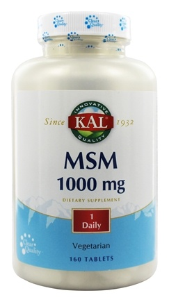 Kal - MSM 1000 mg. - 160 Tablets
