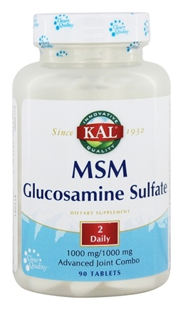 DROPPED: Kal - MSM With Glucosamine Sulfate - 90 Tablets