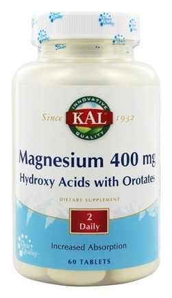 Kal - Magnesium ActiSorb 400 mg. - 60 Tablets
