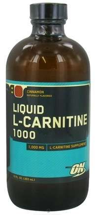 DROPPED: Optimum Nutrition - L-Carnitine 1000 Liquid Cinnamon - 12 oz. CLEARANCE PRICED