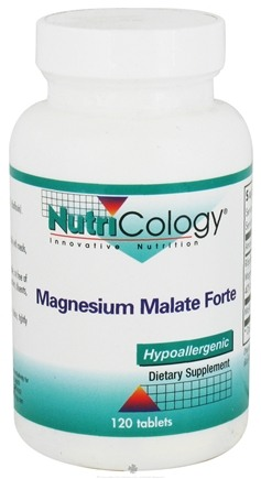 DROPPED: Nutricology - Magnesium Malate Forte - 120 Tablets CLEARANCE PRICED