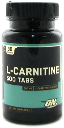 DROPPED: Optimum Nutrition - L-Carnitine 500 Tabs 500 mg. - 30 Tablets