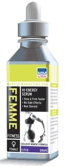 DROPPED: Muscle Marketing USA, Inc - Femme Hi-Energy Serum Cherry - 5.1 oz. CLEARANCE PRICED