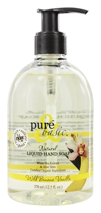DROPPED: Pure & Basic - Natural Liquid Hand Soap Wild Banana Vanilla - 12.5 oz.