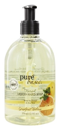 DROPPED: Pure & Basic - Natural Liquid Hand Soap Grapefruit Verbena - 12.5 oz.