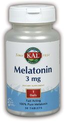 DROPPED: Kal - Melatonin 3 mg. - 30 Tablets