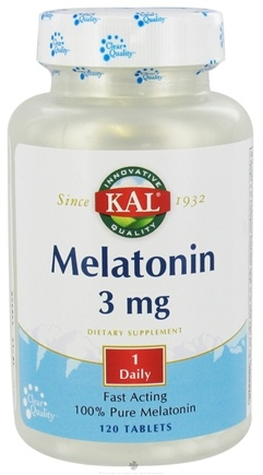 DROPPED: Kal - Melatonin 3 mg. - 120 Tablets CLEARANCE PRICED