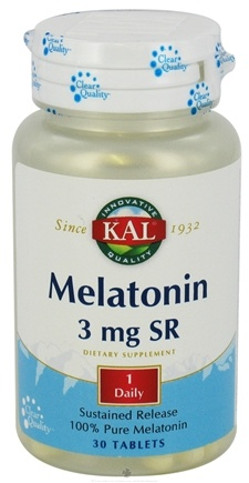 DROPPED: Kal - Melatonin 100% Pure Sustained Release 3 mg. - 30 Tablets CLEARANCE PRICED
