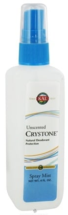 DROPPED: Kal - Crystone Deodorant Spray Mist Unscented - 4 oz. CLEARANCE PRICED