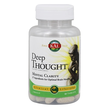 Kal - Clinical Lifestyles Deep Thought Mental Clarity - 60 Tablets