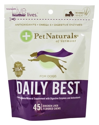 DROPPED: Pet Naturals of Vermont - Daily Best for Dogs Soft Chews Chicken Liver Flavored - 45 Chewables