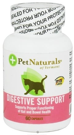DROPPED: Pet Naturals of Vermont - Digestive Support for Cats Supports Proper Functioning Of Gut & Bowel Health - 60 Capsules CLEARANCE PRICED
