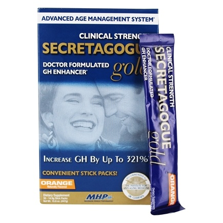 DROPPED: MHP - Secretagogue Gold Advanced Age Management System Orange - 30 Packet(s)