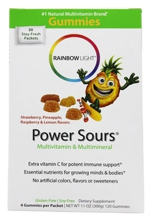 Rainbow Light - Gummy Power Sours Multivitamin & Multimineral - 30 Packet(s)