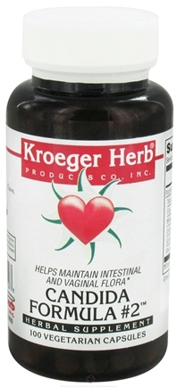 DROPPED: Kroeger Herbs - Candida Formula #2 - 100 Vegetarian Capsules (formerly Foon Goos #2)