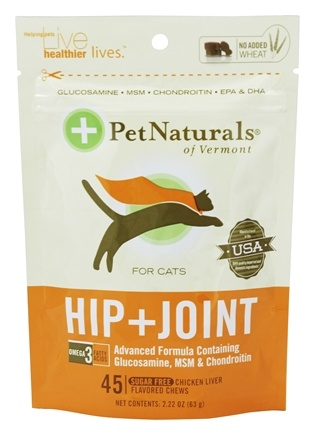 DROPPED: Pet Naturals of Vermont - Hip & Joint for Cats Soft Chews - 45 Chewables