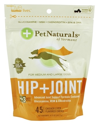 DROPPED: Pet Naturals of Vermont - Hip & Joint Advanced Formula Soft Chews For Medium-Large Dogs Chicken Liver Flavored - 45 Chewables