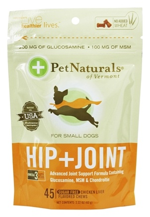 DROPPED: Pet Naturals of Vermont - Hip & Joint for Small Dogs Soft Chews - 45 Chewables