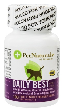 DROPPED: Pet Naturals of Vermont - Daily Best For Cats Beef Flavored - 100 Chewable Tablets formerly Natural Cat Daily