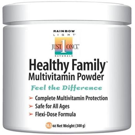 DROPPED: Rainbow Light - Healthy Family Multivitamin Powder Vanilla - 300 Grams