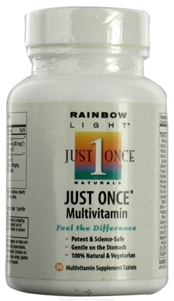 DROPPED: Rainbow Light - Just Once Multivitamin VegeGuard - 30 Tablets