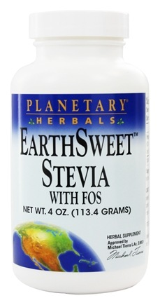 Planetary Herbals - EarthSweet Stevia with FOS Powder - 4 oz. Formerly Planetary Formulas