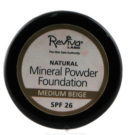 DROPPED: Reviva Labs - Natural Powder Foundation SPF 26 Medium Beige - 5 Grams