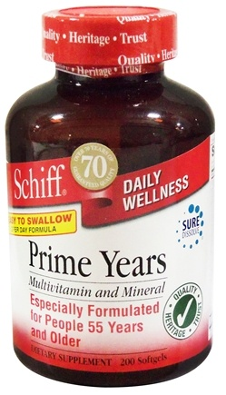 DROPPED: Schiff - Prime Years Multivitamin and Mineral - 200 Softgels
