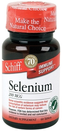 DROPPED: Schiff - Selenium 200 mcg. - 60 Tablets CLEARANCE PRICED