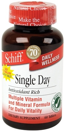 DROPPED: Schiff - Single Day Multi Vitamin and Mineral Formula - 60 Tablets