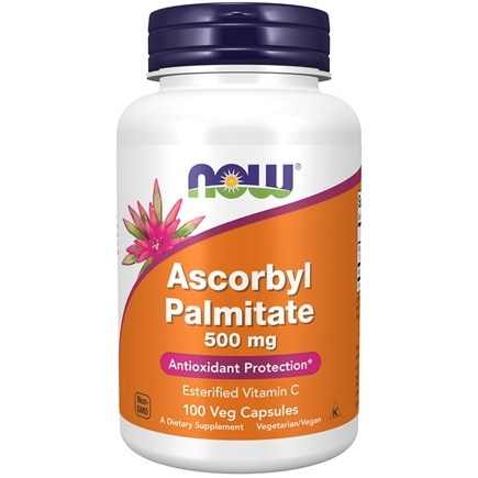 DROPPED: NOW Foods - Ascorbyl Palmitate 500 mg. - 100 Vegetarian Capsules