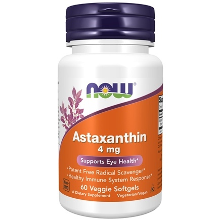 NOW Foods - Astaxanthin Cellular Protection 4 mg. - 60 Softgels