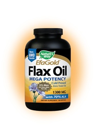DROPPED: Nature's Way - Flax Oil 70% ALA Mega Potency 1300 mg. - 100 Softgels