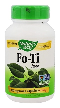 Nature's Way - Fo-Ti Root 610 mg. - 100 Vegetarian Capsules