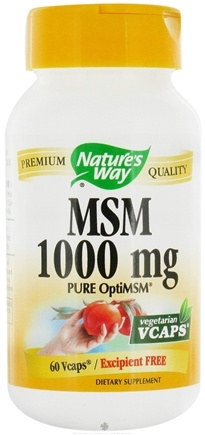 DROPPED: Nature's Way - MSM CLEARANCE PRICED 1000 mg. - 60 Vegetarian Capsules