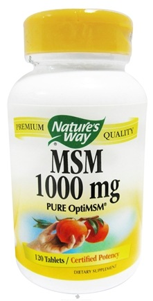 DROPPED: Nature's Way - MSM 1000 mg. - 120 Tablet(s)