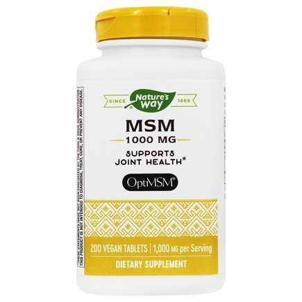 Nature's Way - MSM 1000 mg. - 200 Tablets