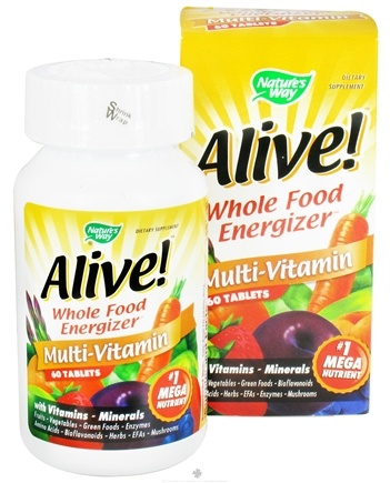 DROPPED: Nature's Way - Alive Multi-Vitamin Whole Food Energizer - 60 Tablets CLEARANCE PRICED