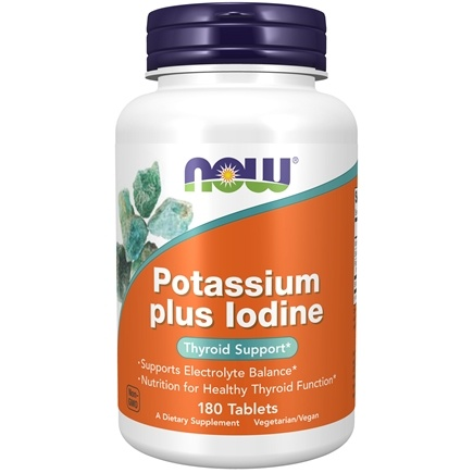 NOW Foods - Potassium Plus Iodine - 180 Tablets