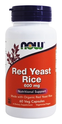 NOW Foods - Red Yeast Rice 600 mg. - 60 Vegetarian Capsules