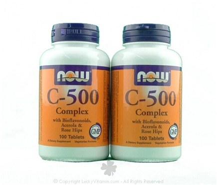 DROPPED: NOW Foods - Vitamin C500 Complex Twin Pack Special - 100 Vegetarian Tablets