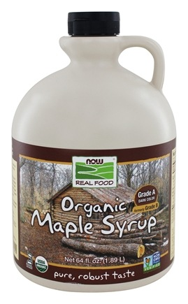 NOW Foods - Organic Maple Syrup Grade A Dark Color - 64 oz.
