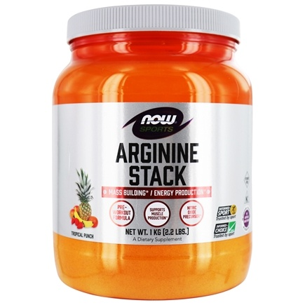 DROPPED: NOW Foods - Arginine Power Super Stack Tropical Punch Flavor - 2.2 lbs.