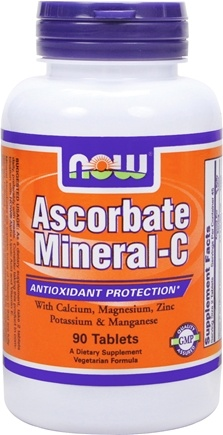DROPPED: NOW Foods - Ascorbate Mineral C - 90 Tablets CLEARANCE PRICED