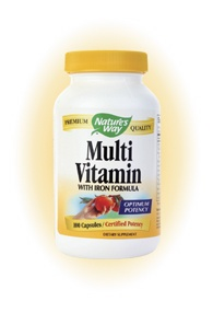 DROPPED: Nature's Way - Multivitamin- with iron formula - 100 Capsules