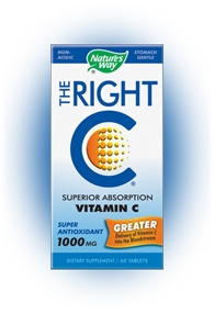 DROPPED: Nature's Way - The Right C Superior Absorption Vitamin C 1000 mg. - 60 Tablets