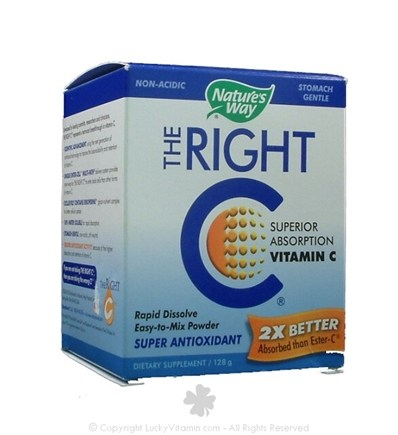 DROPPED: Nature's Way - The Right C Superior Absorption Vitamin C Powder 1.3 g. - 128 Grams