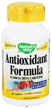 DROPPED: Nature's Way - Antioxidant Formula Plus CoQ10 & Green Tea 25000 IU - 60 Tablets CLEARANCE PRICED