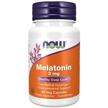 NOW Foods - Melatonin 3 mg. - 60 Capsules